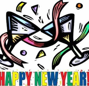 Years clipart cartoon. Best new year
