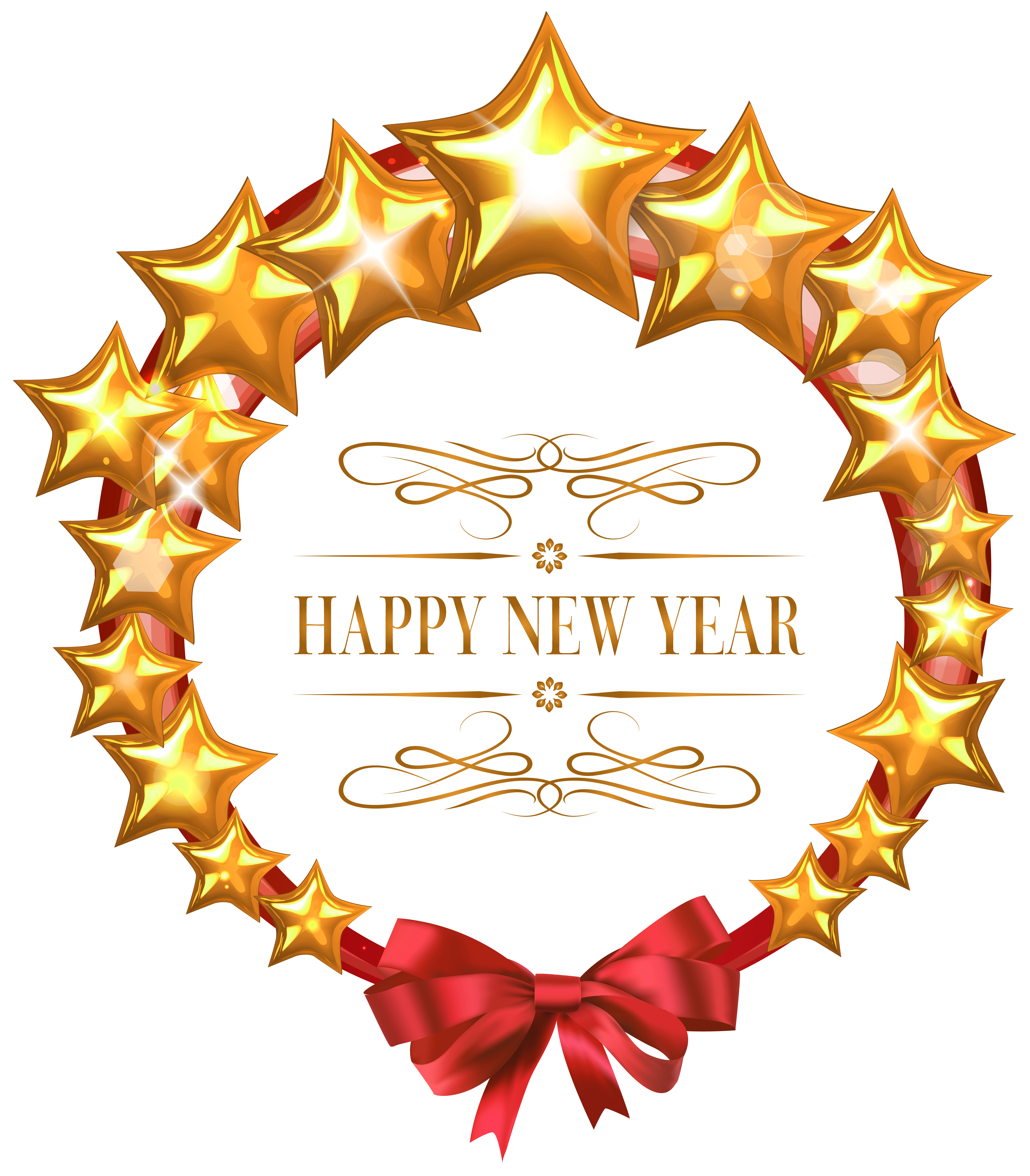 Years clipart decoration. Happy new year stars