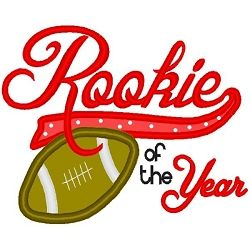 Years clipart rookie the. Of year applique sizes