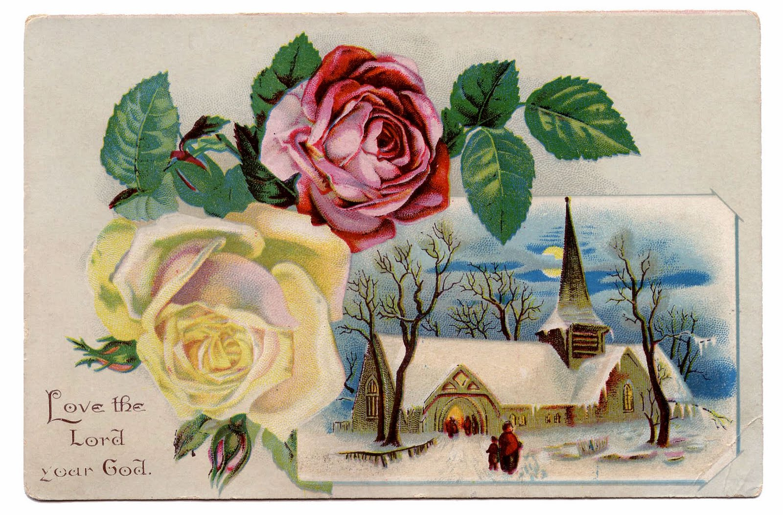 Years clipart winter. Vintage clip art church
