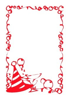 Years eve clipart border. New year merry christmas