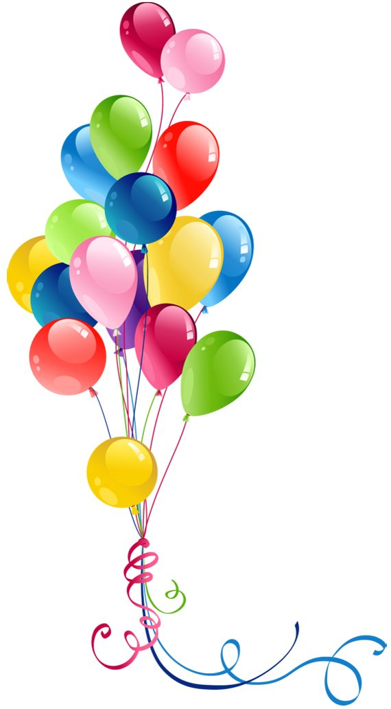 Years free clipart balloons. Transparent bunch pretty things
