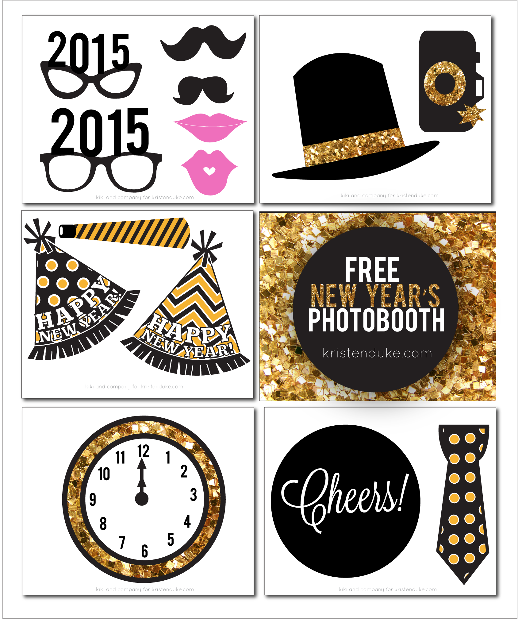 Years free clipart eve party. New photo booth props