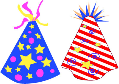 Years free clipart hat. Party hats clip art