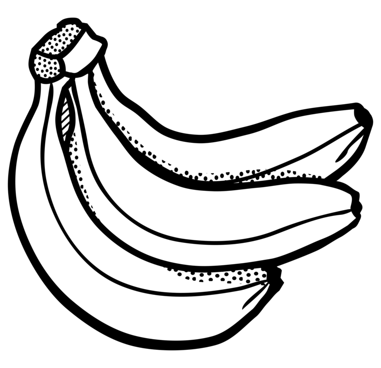 Line art pudding free. Yeast drawing banana bread picture free stock