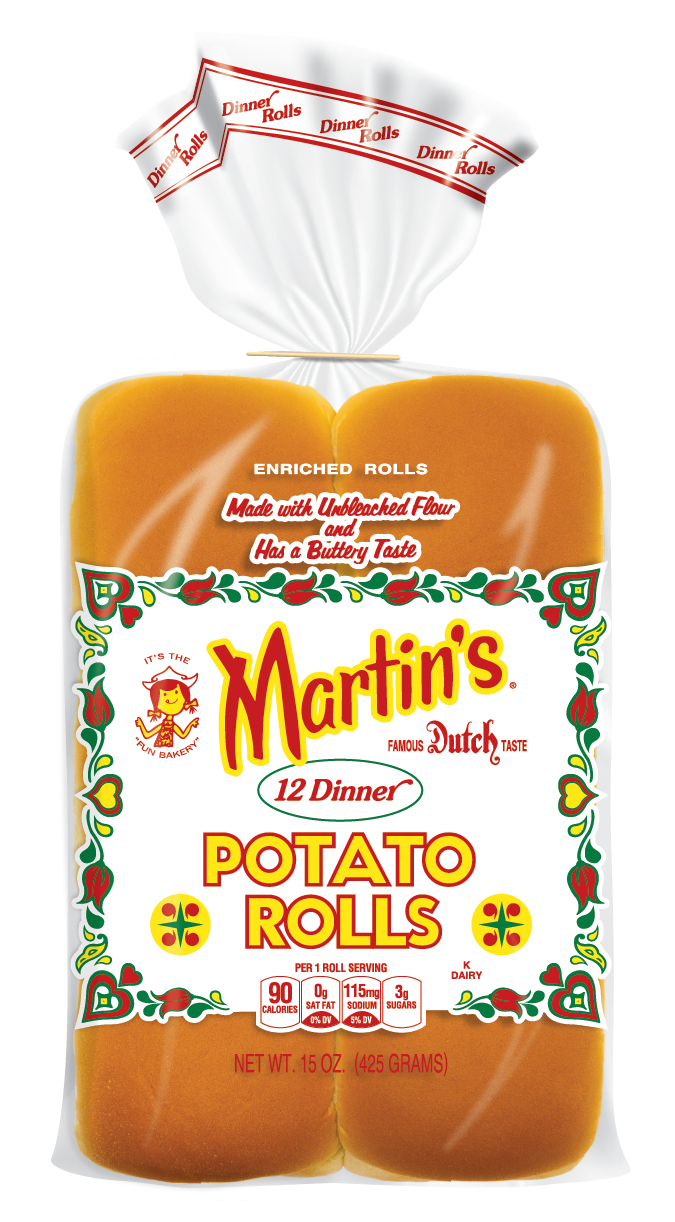 Yeast drawing dinner roll. Potato rolls products martin