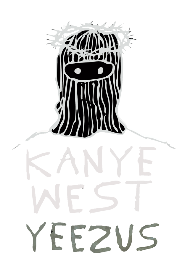 Download hd jpg library. Yeezus drawing black and white banner stock