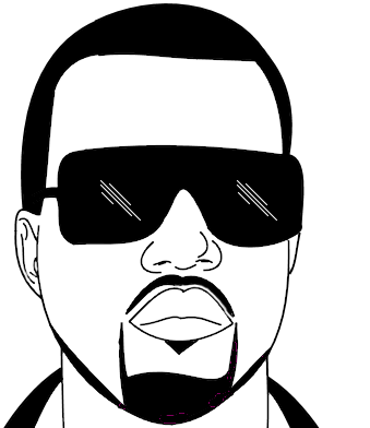 Yeezus drawing black and white. Upfrontgames or jesus click