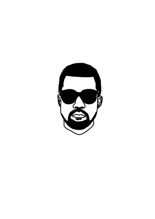 Art black and white. Yeezus drawing yeezy clipart library