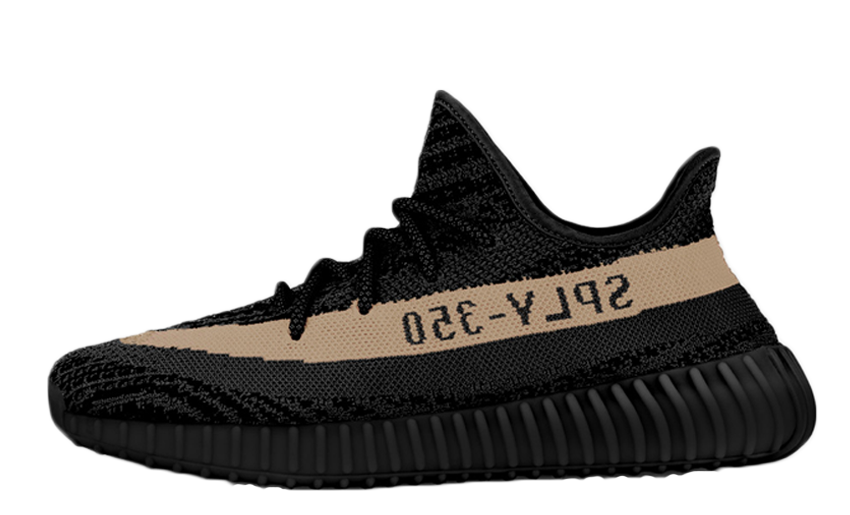 yeezy transparent black beige