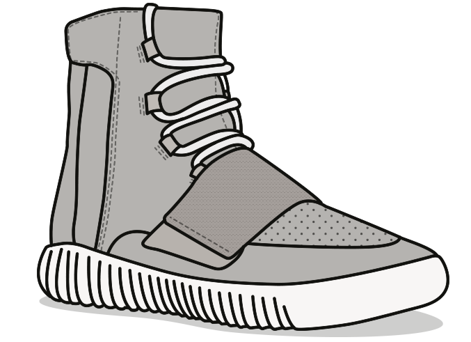 Yeezy transparent art. Sneakers clipart library