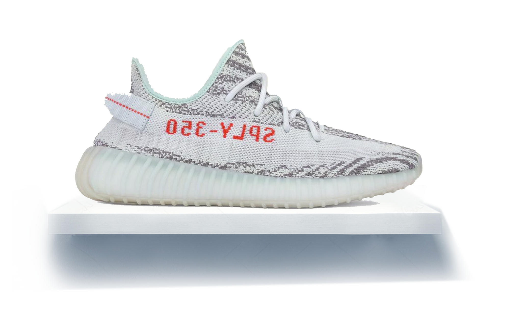 Yeezys transparent 2.0 white. Yeezy boost blue tint