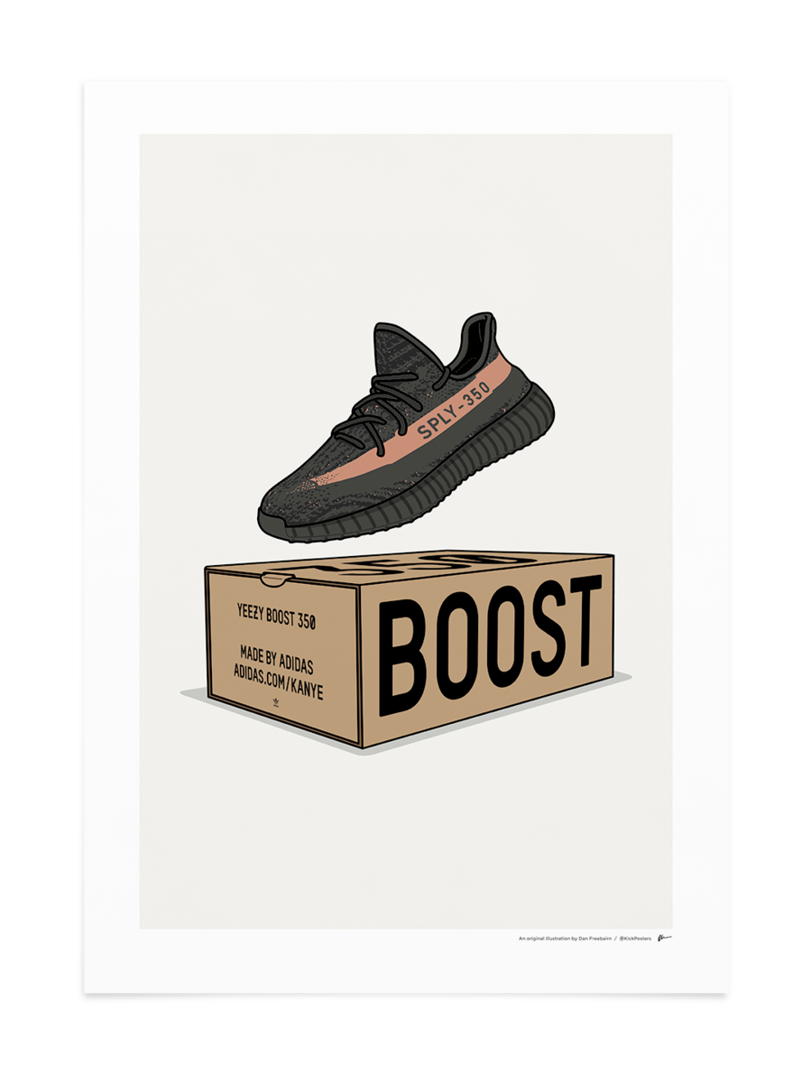 Yeezy transparent black friday copper. V box kickposters