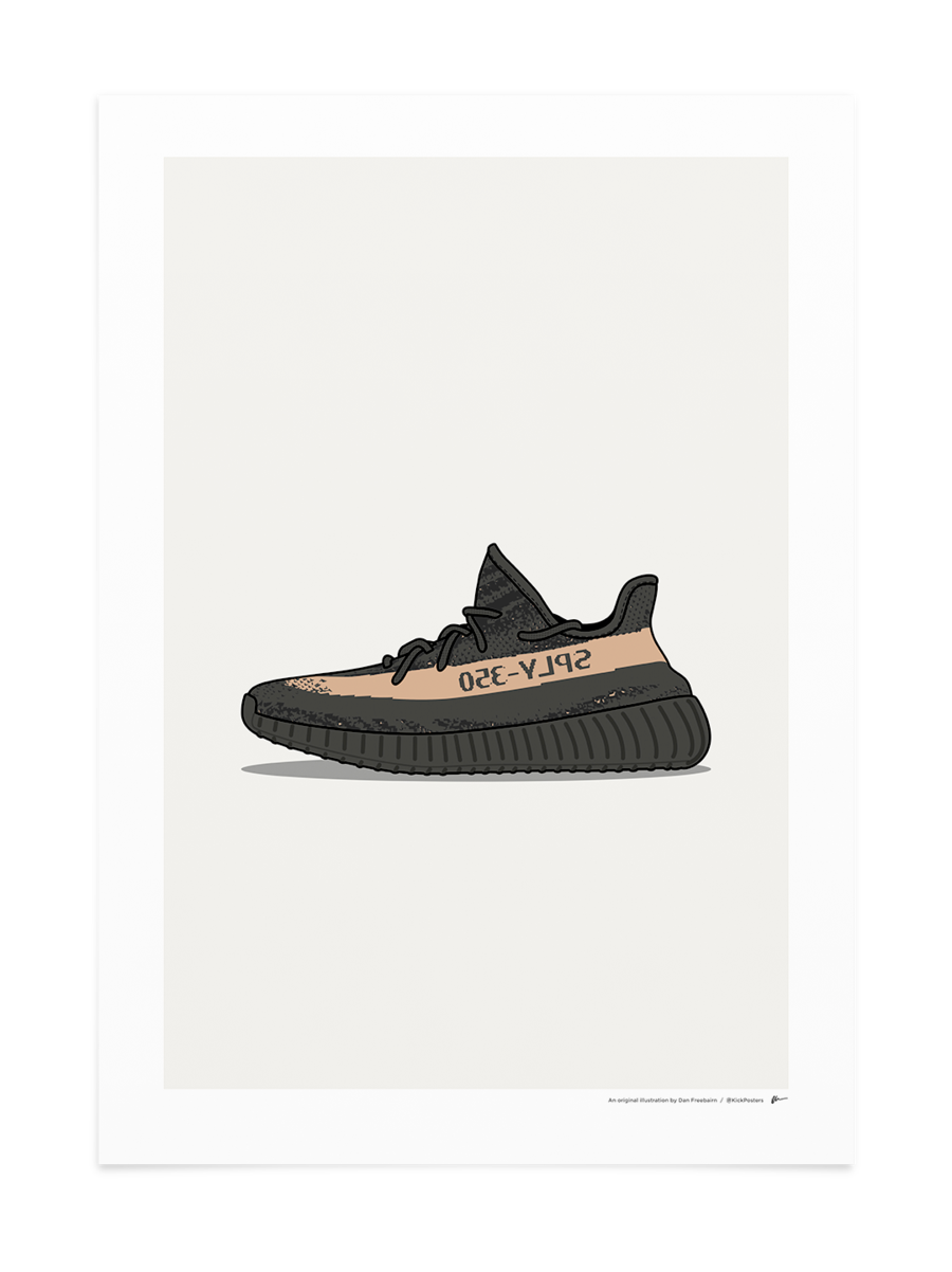 Yeezys transparent black friday copper. Yeezy v kickposters