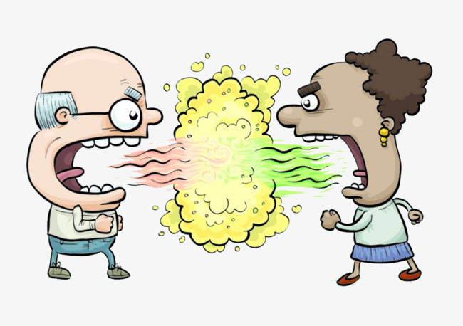 Yell clipart. People cartoon hand quarrel