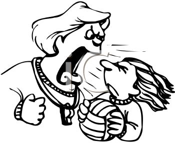 Coach Yelling at a Player - Royalty Free Clipart Picture