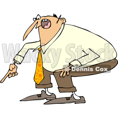 Yell clipart cartoon. Of a angry white clipart free stock