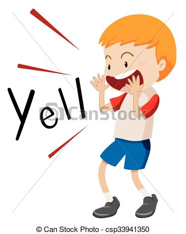 Little boy yelling out. Yell clipart illustration png transparent
