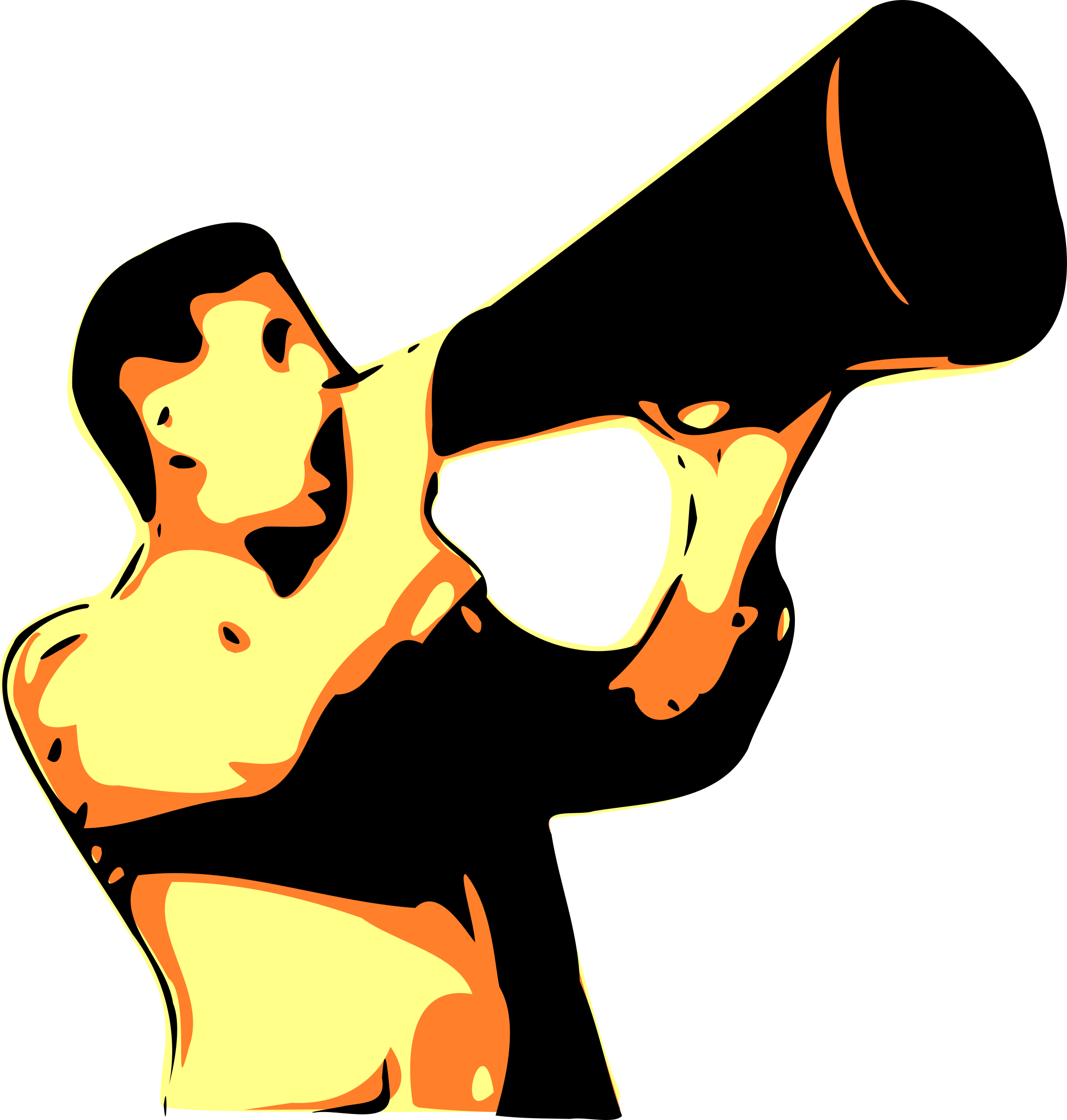 Yell clipart man shouting. Free yelling cliparts download