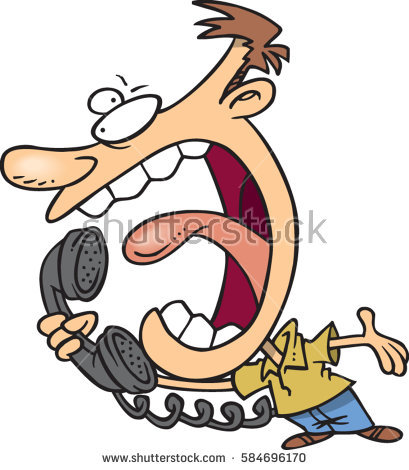 Cartoon yelling into phone. Yell clipart man shouting image royalty free download
