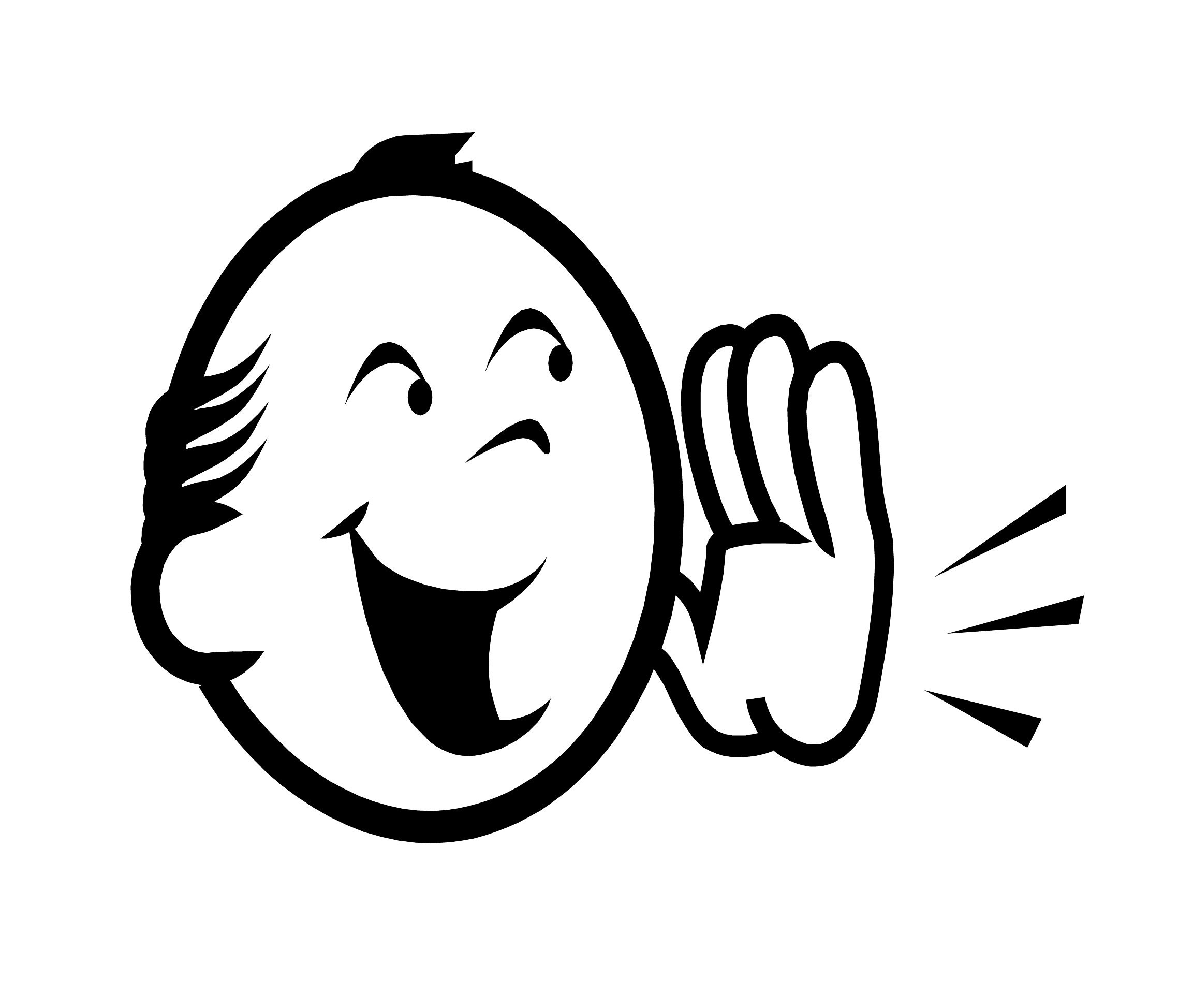 Yell clipart shout. Black and white letters