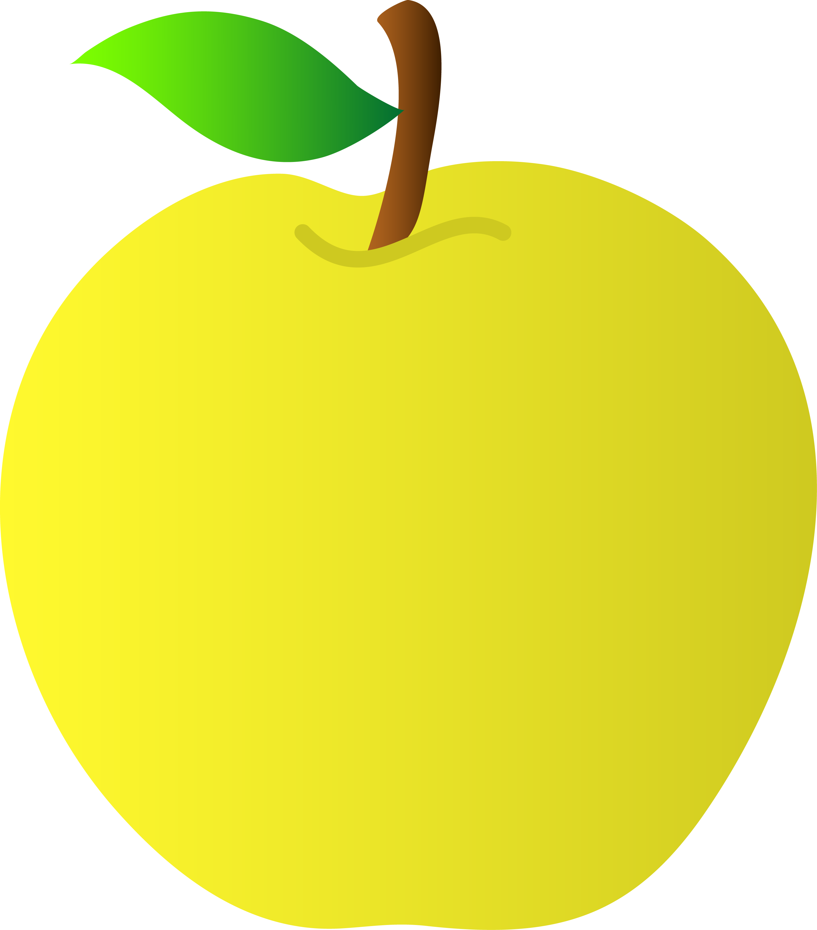 Oblong apple. Free yellow pictures download