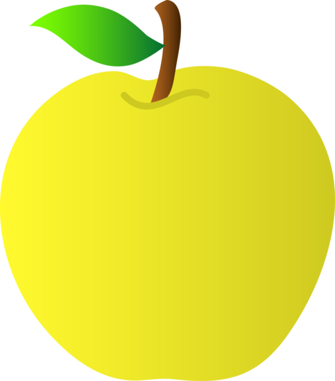 Yellow apples clipart png. Free apple pictures download