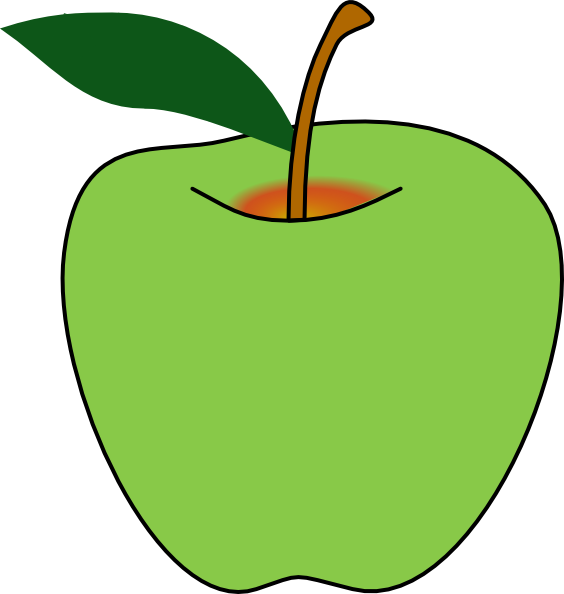 Yellow apples clipart png. Bitten green apple free