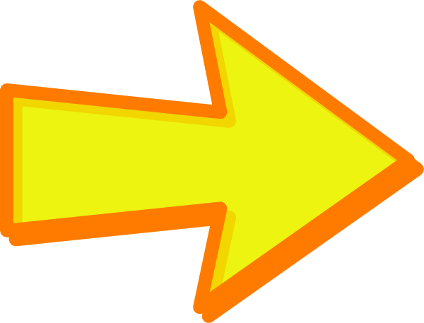 Yellow arrow png. Orange clip art at