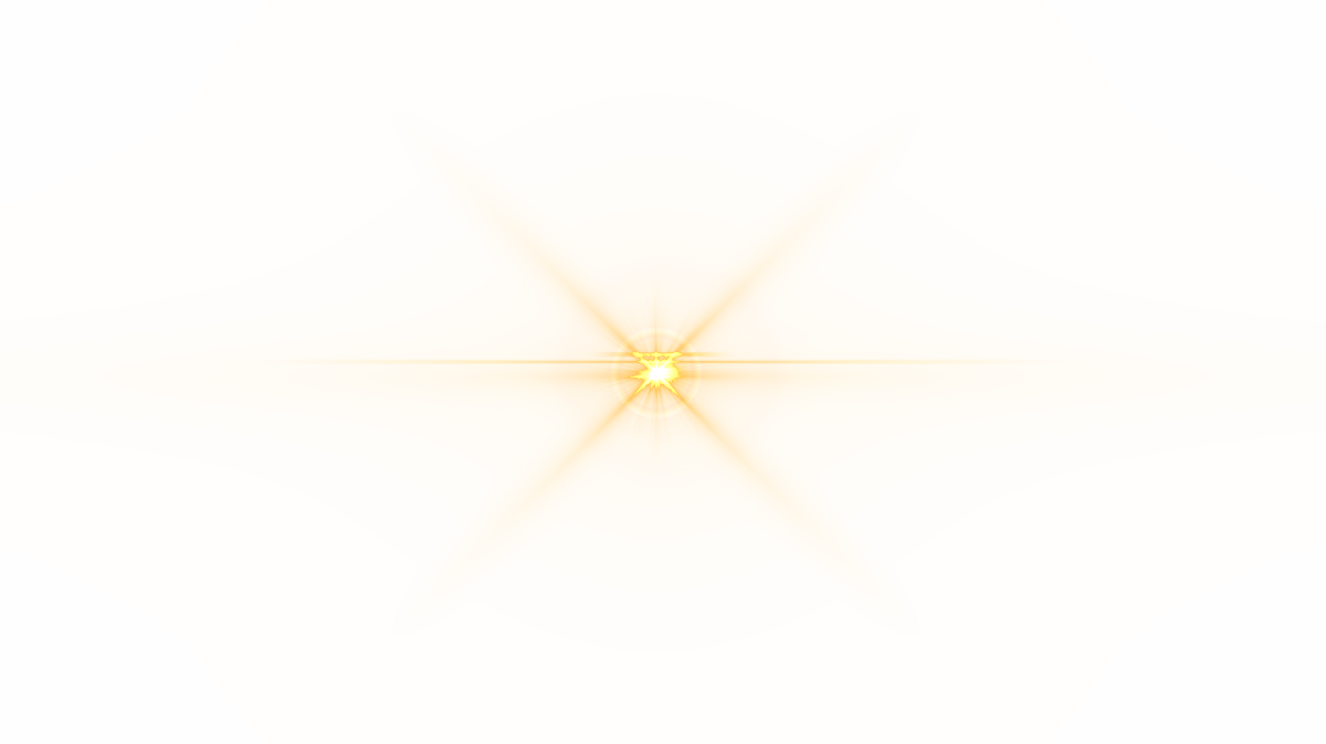 Star glare png. Front yellow lens flare