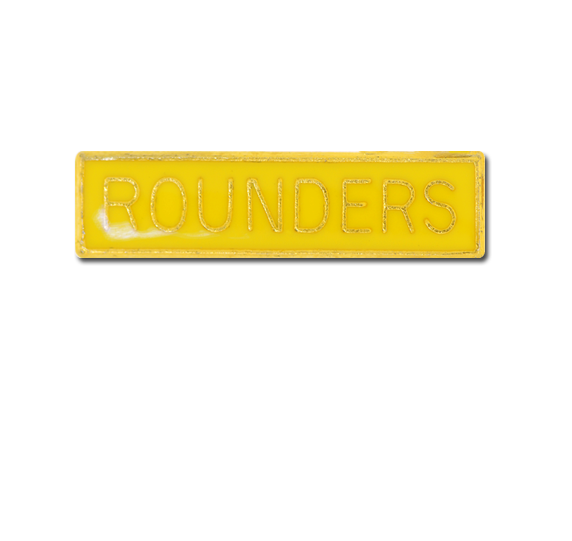 Yellow badge png. Rounders small bar badges