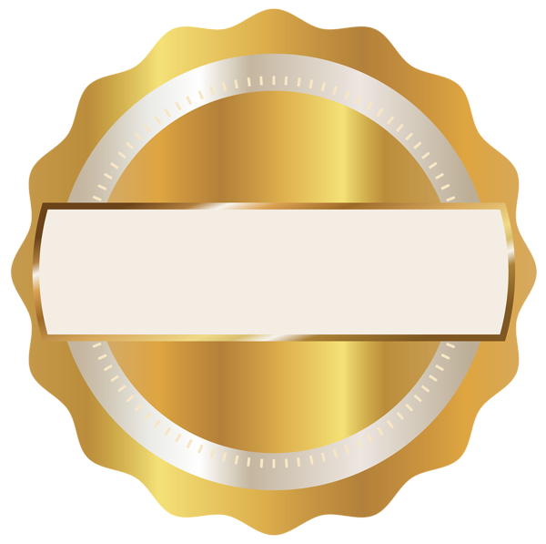 Yellow badge png. Gold seal clipart image
