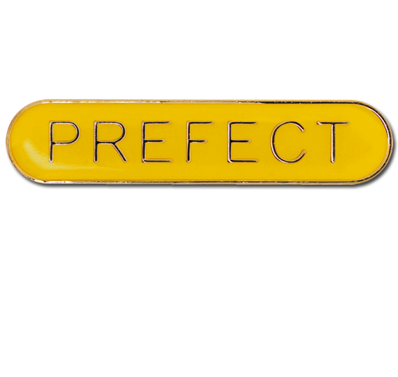 Yellow badge png. Prefect rounded edge bar