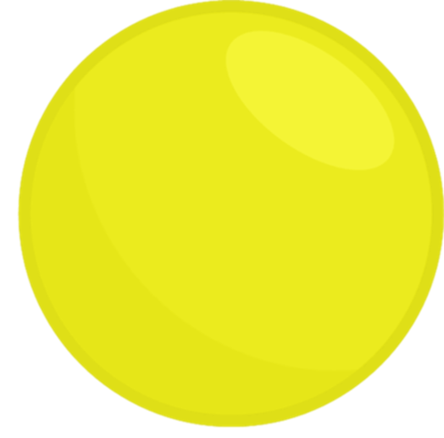 Yellow ball png. Image body object terror