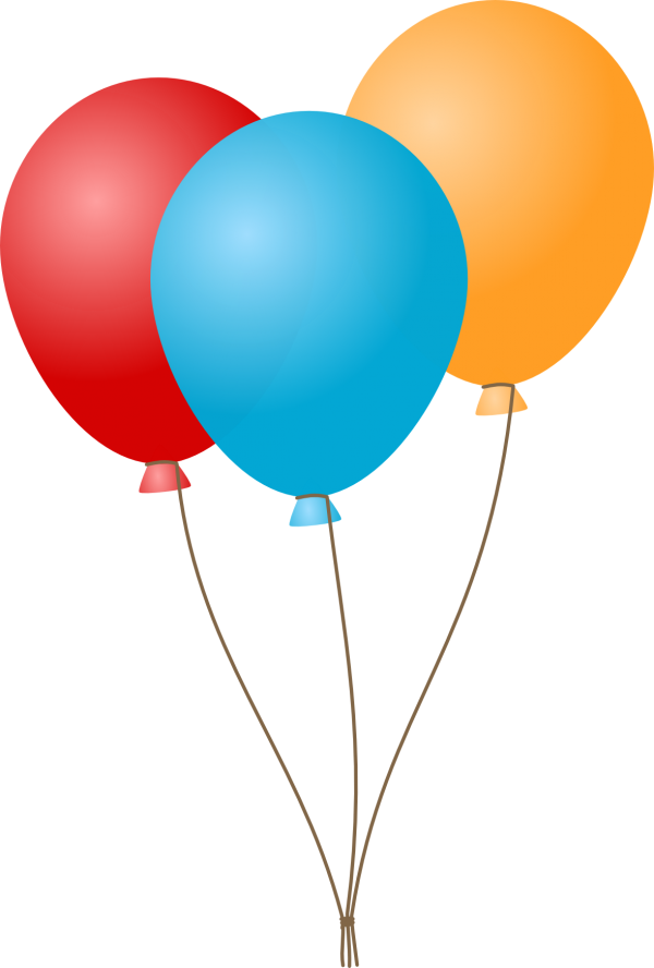 Yellow balloons png. Blue red and icon