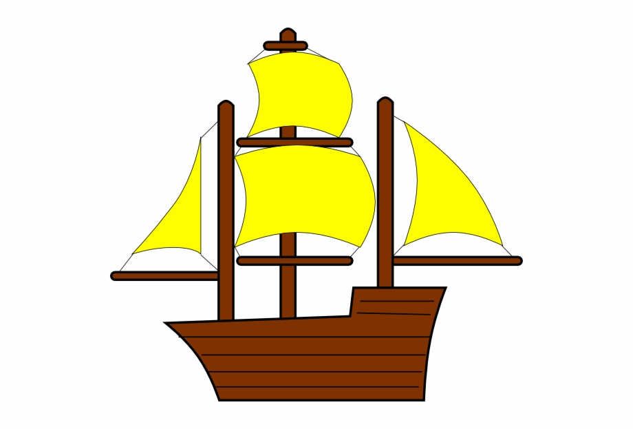 Yellow boat. Download for free png