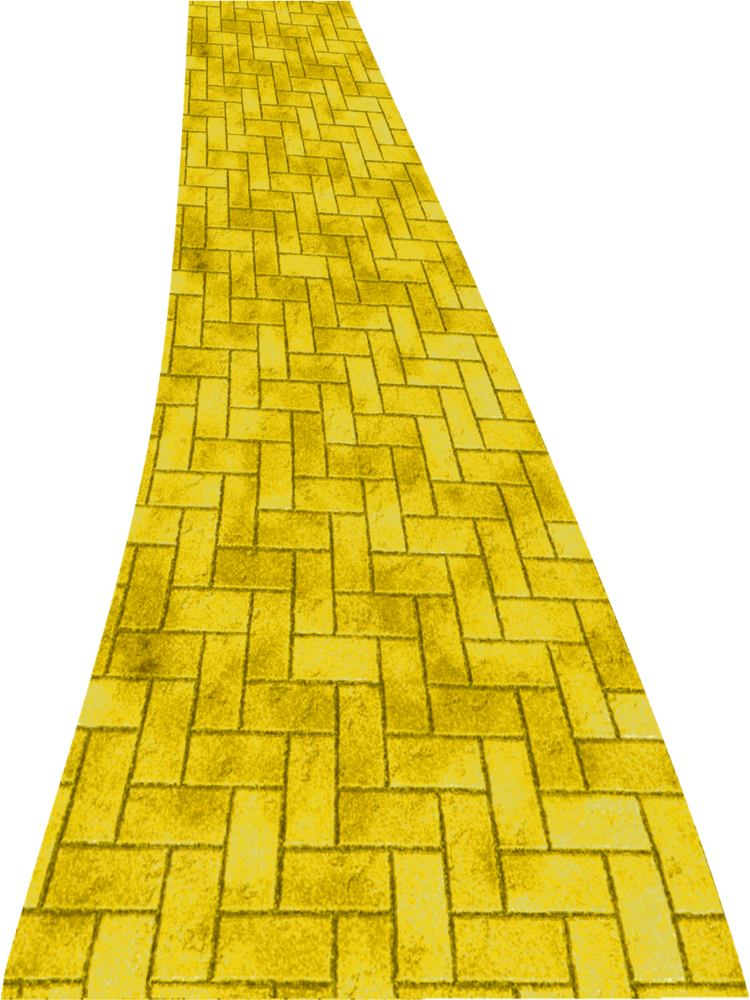 Yellow brick road png. Image clipart by clipartcotttage