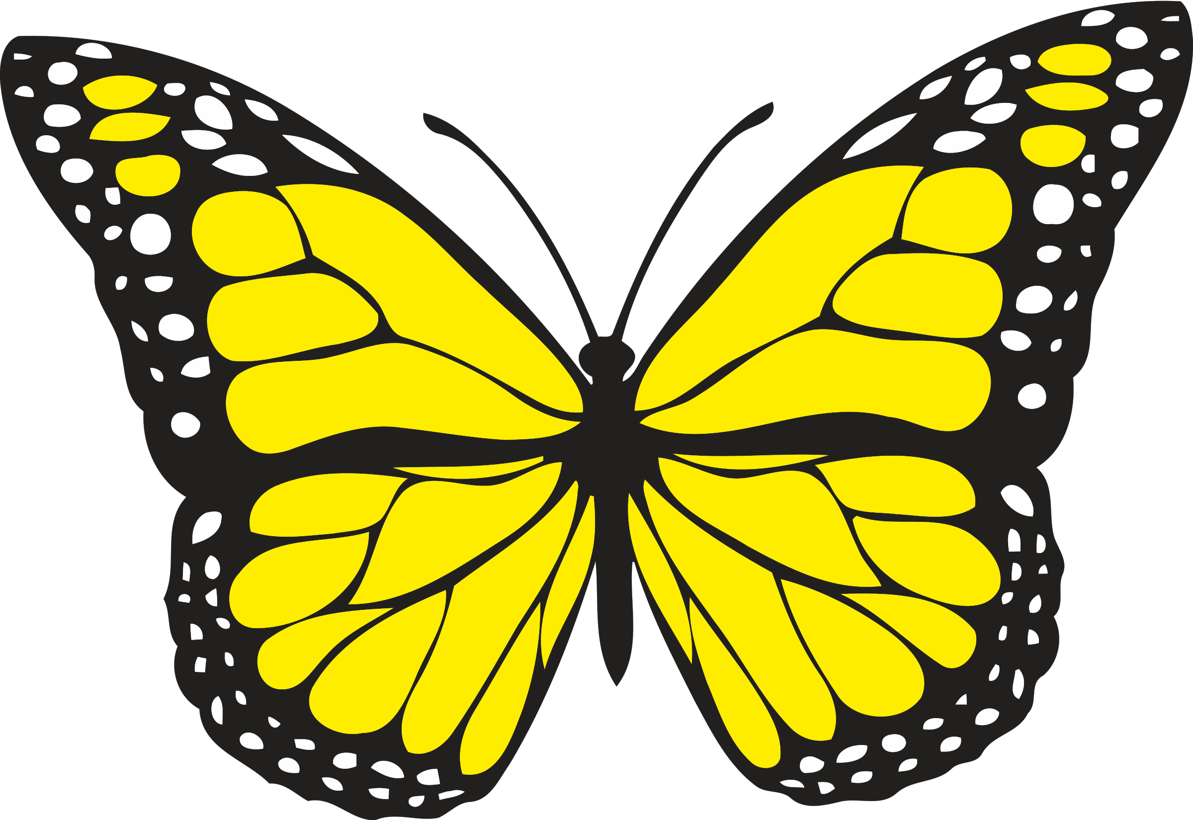 Yellow butterfly png. Flying clipart clip art