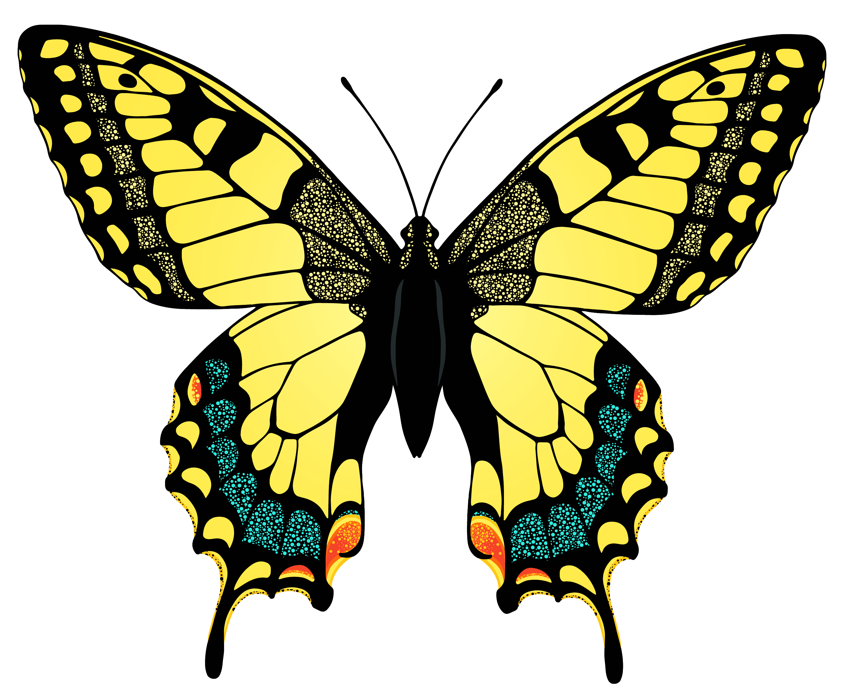 Yellow butterfly png. Image gallery yopriceville high