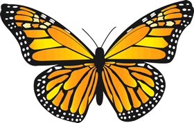 Yellow butterfly png. Images clipart transparent five