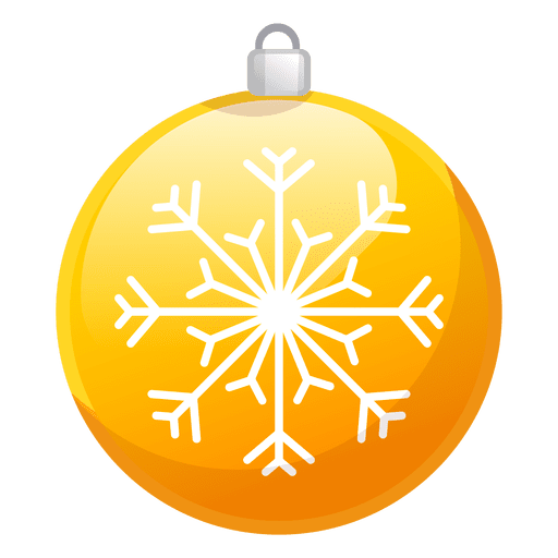 Yellow christmas ornaments png. Shiny ornament icon transparent