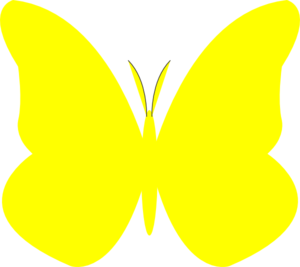 Yellow clipart. Free butterfly cliparts download