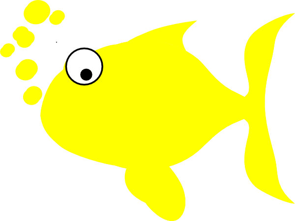 Yellow clipart fish. Clip art at clker