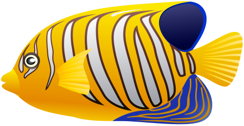 Yellow clipart fish. Png clip art best