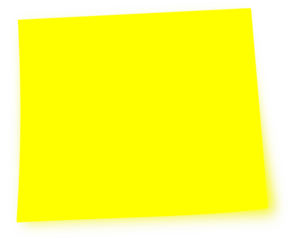 Yellow clipart post it. Note clip art at