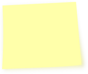 Yellow clipart post it. Light note clip art