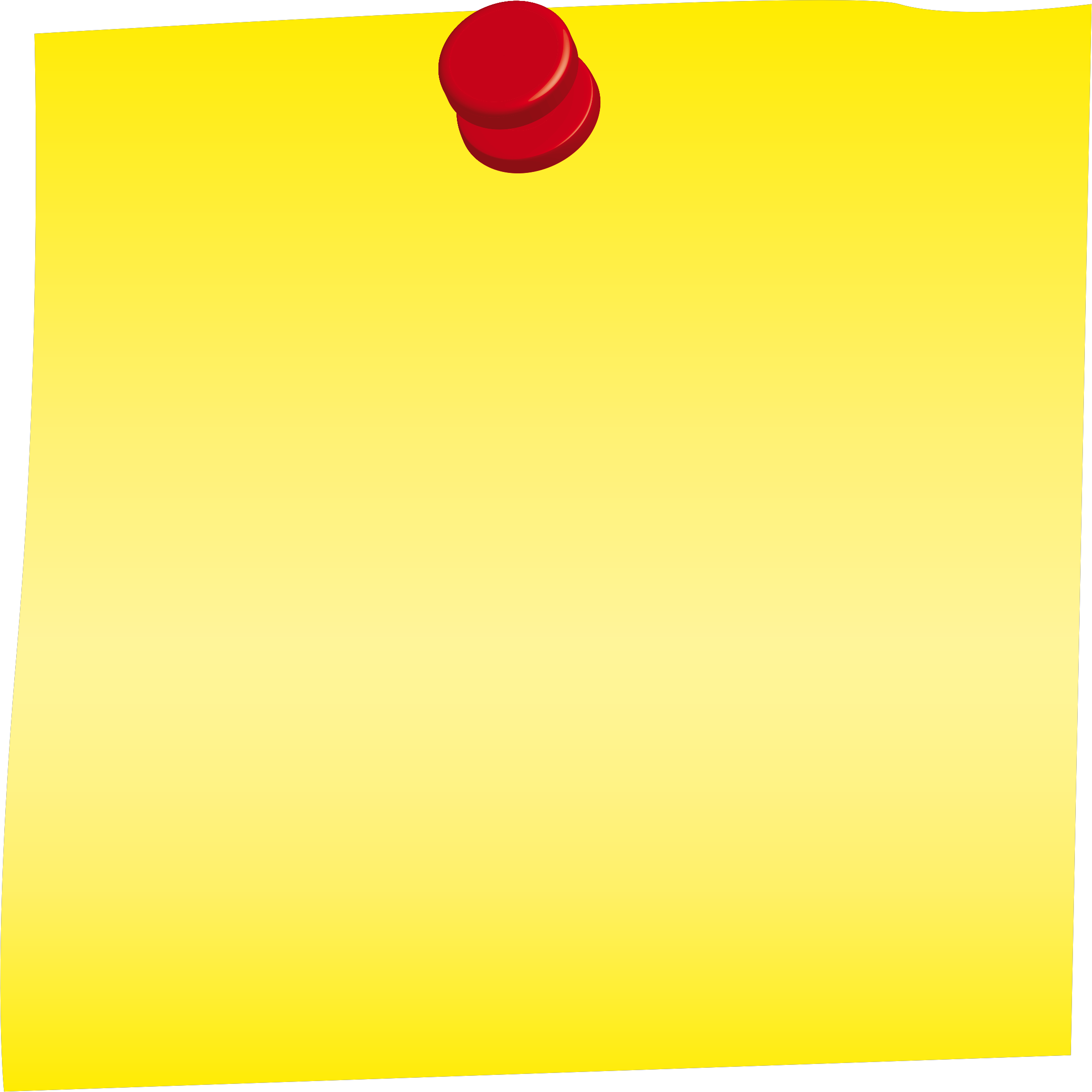 Yellow clipart post it. Big image png