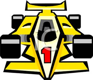 Yellow clipart race car. Picture a