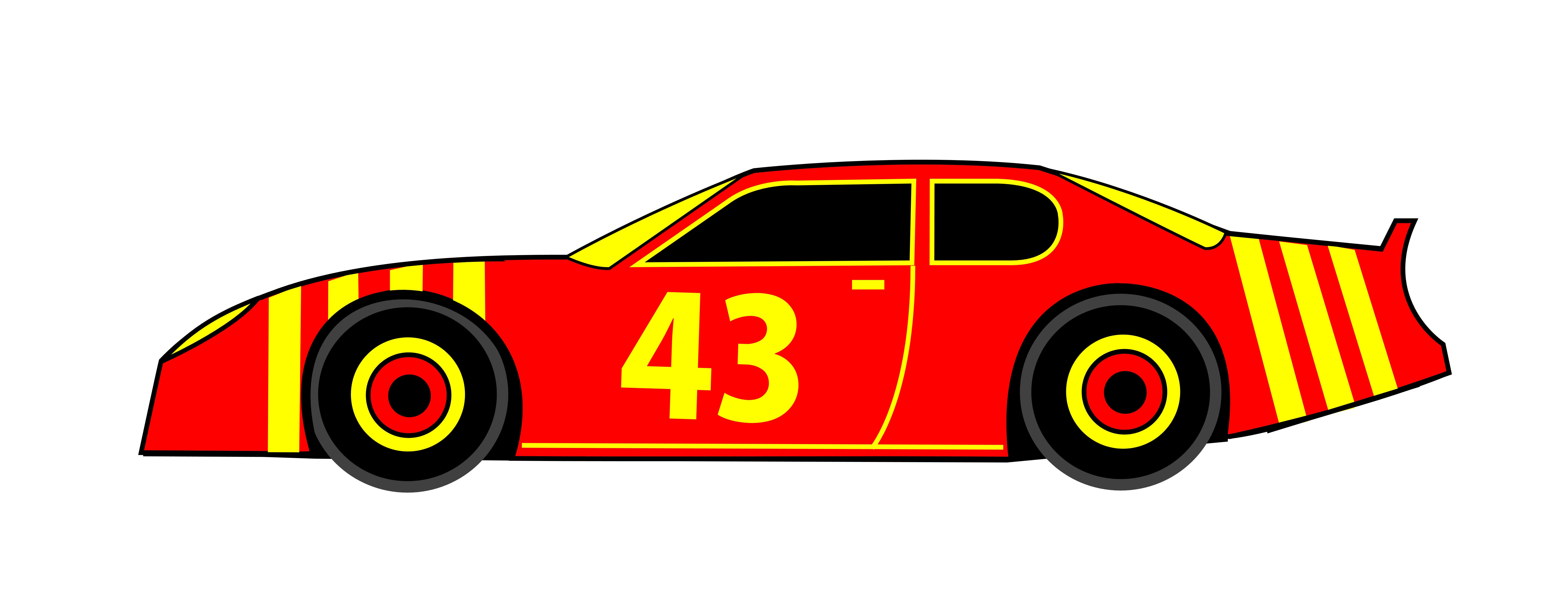 Yellow clipart race car. Silhouette at getdrawings com