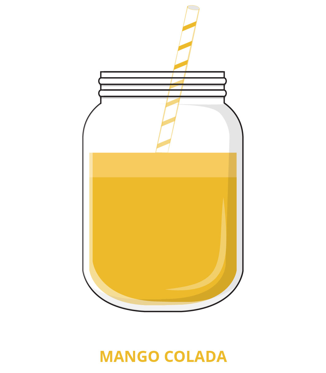 Yellow clipart smoothie. Juicydrop cold pressed menu